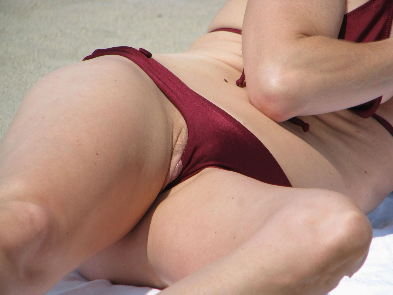 One the bikini voyeur upskirt