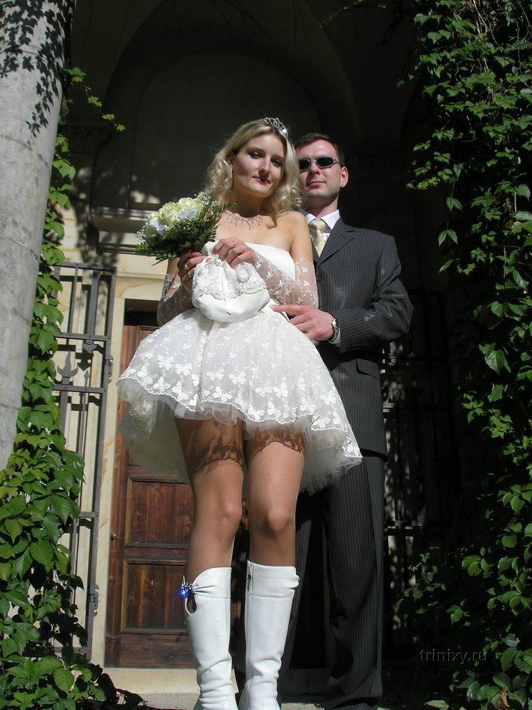 Upskirt pics of wedding dresses