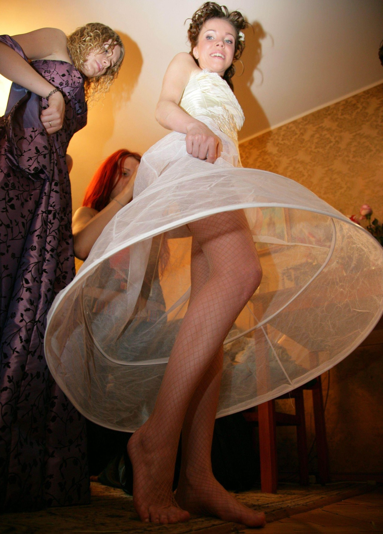 Bride upskirt photos